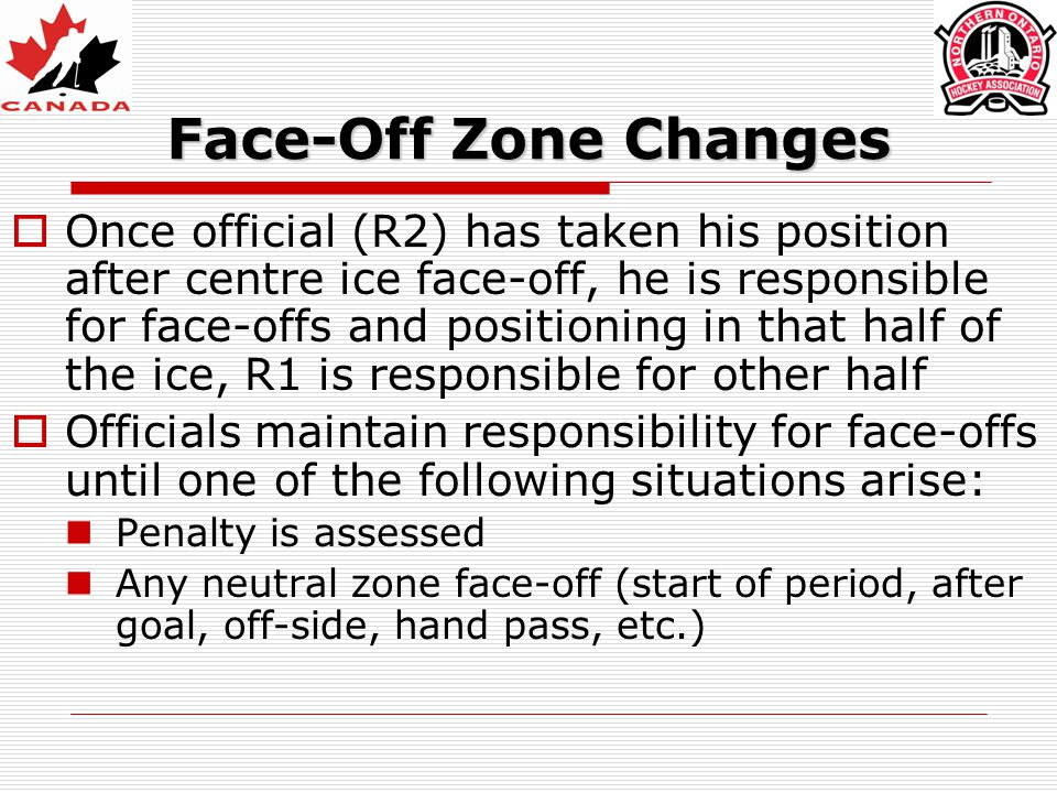 Face-Off Zone Changes