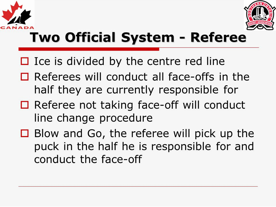 Two Official System - Referee
