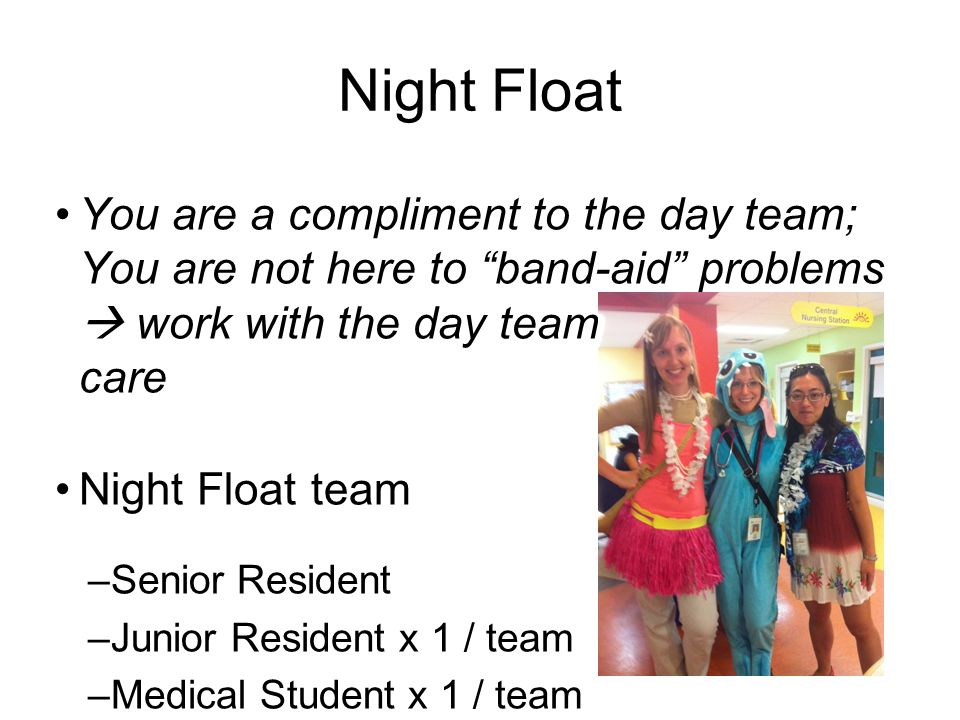 Night Float Document, Document, Document