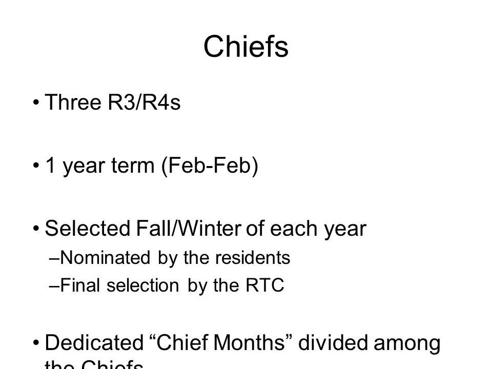 Chiefs Three R3/R4s 1 year term (Feb-Feb)