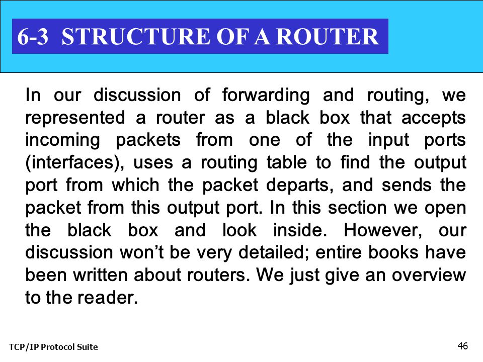 6-3 STRUCTURE OF A ROUTER