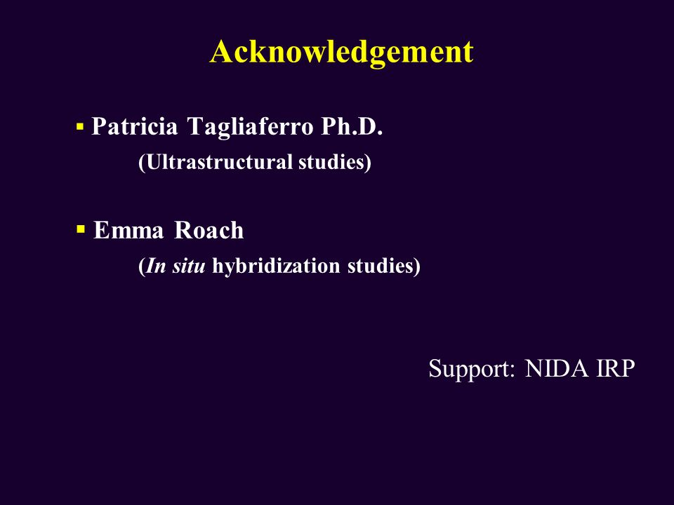 Acknowledgement (Ultrastructural studies) Emma Roach