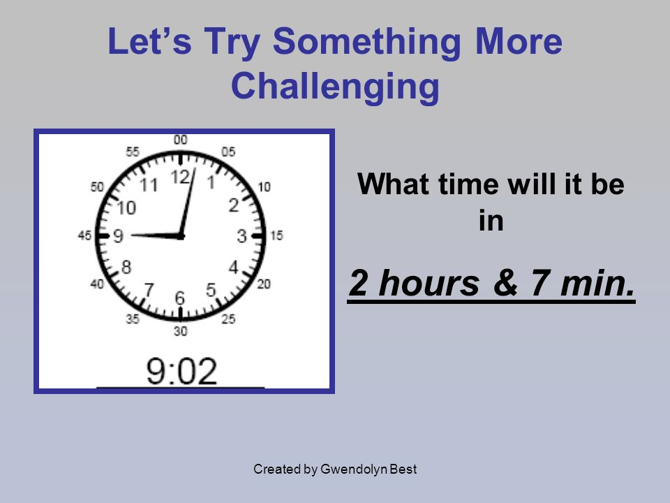 Let's Try Something More Challenging