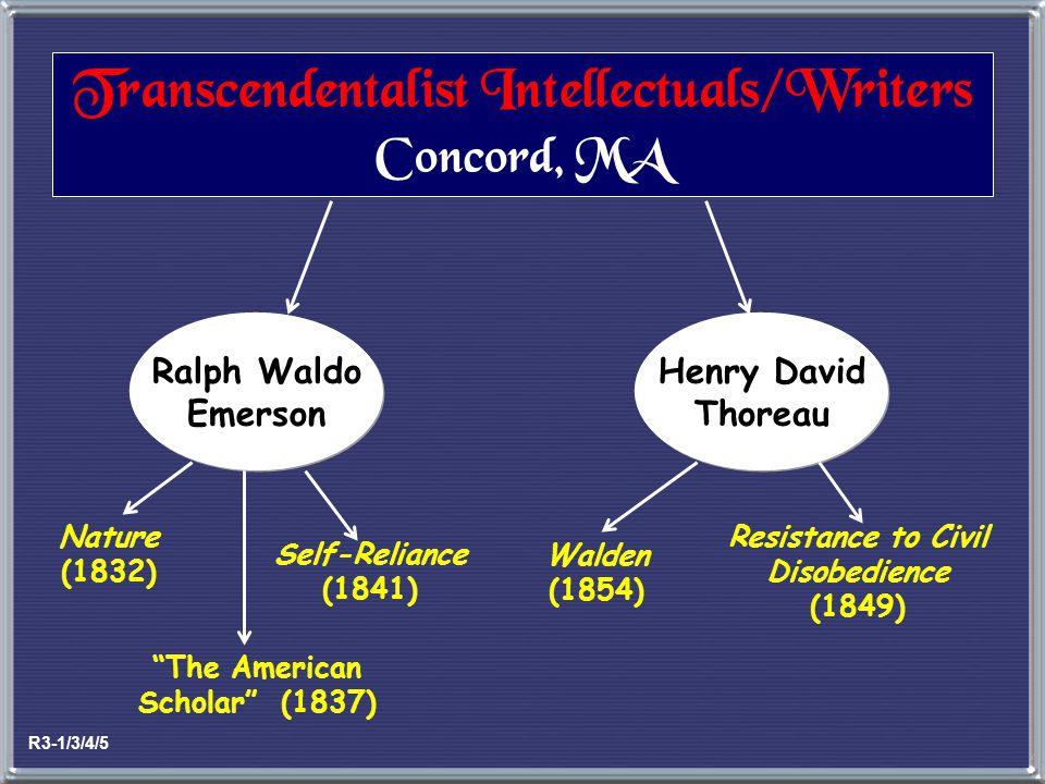 Transcendentalist Intellectuals/Writers Concord, MA