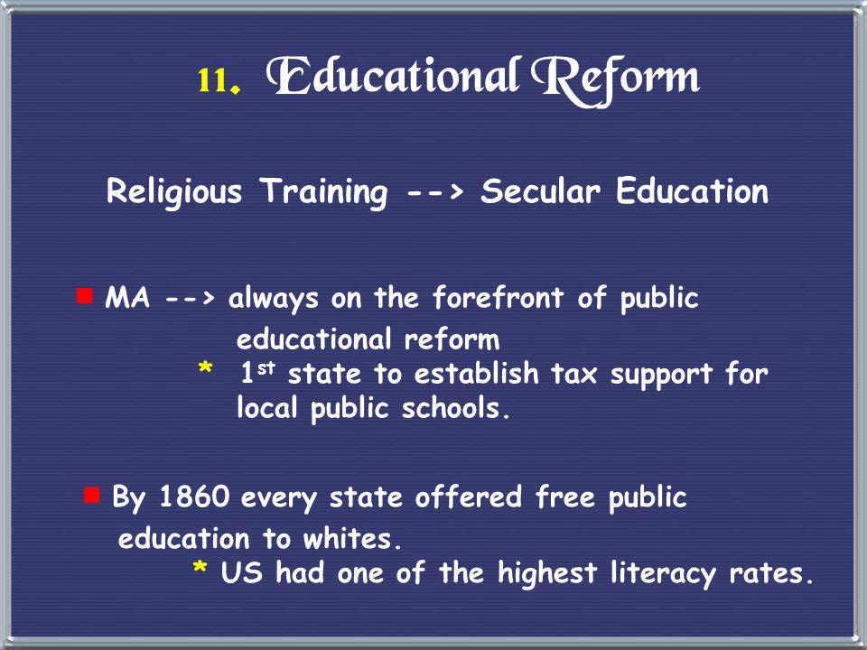 Religious Training --> Secular Education