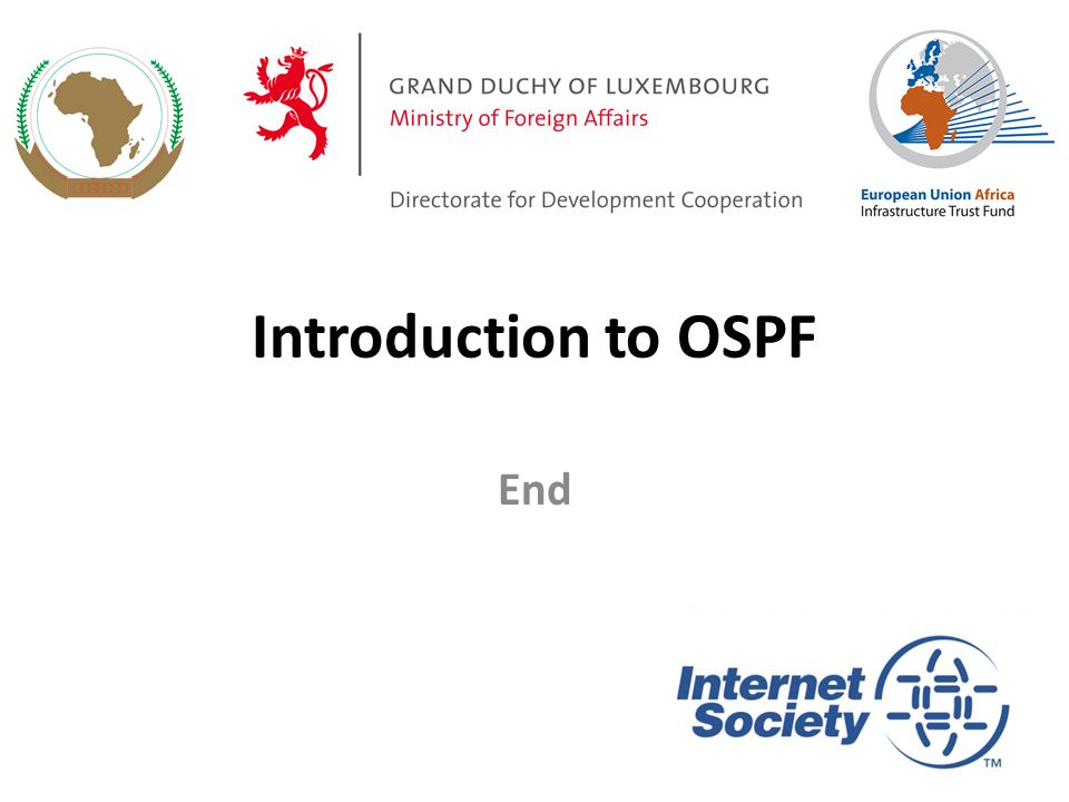 Introduction to OSPF End