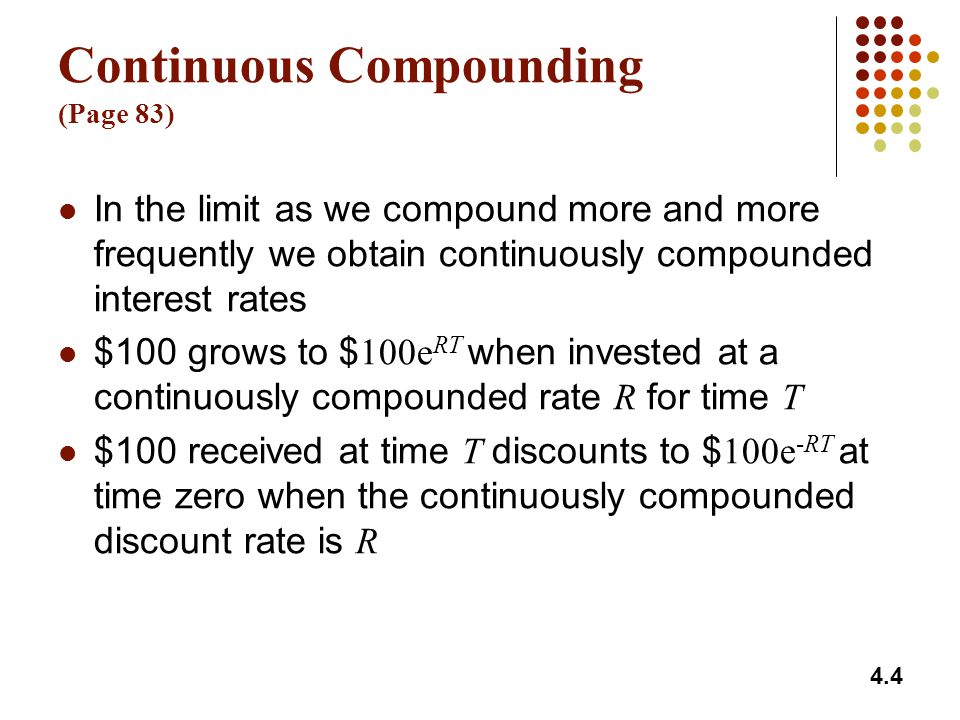 Continuous Compounding (Page 83)