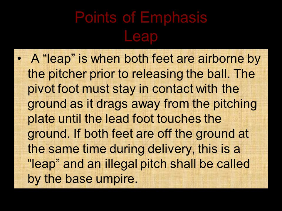 Points of Emphasis Leap