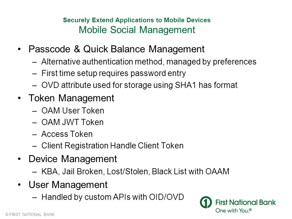 Passcode & Quick Balance Management