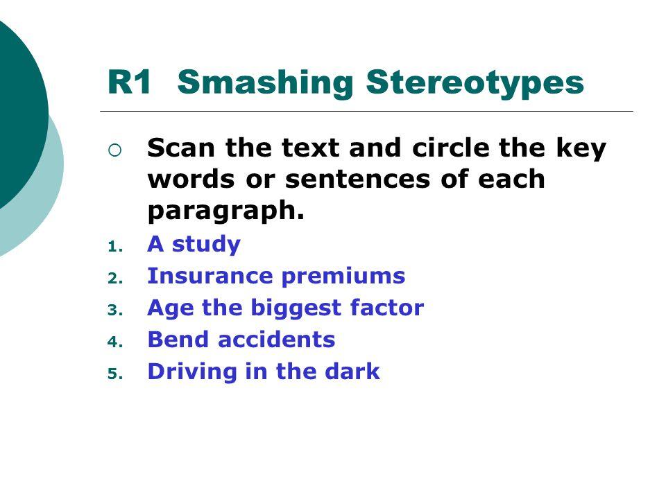 R1 Smashing Stereotypes