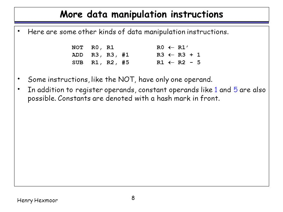 More data manipulation instructions