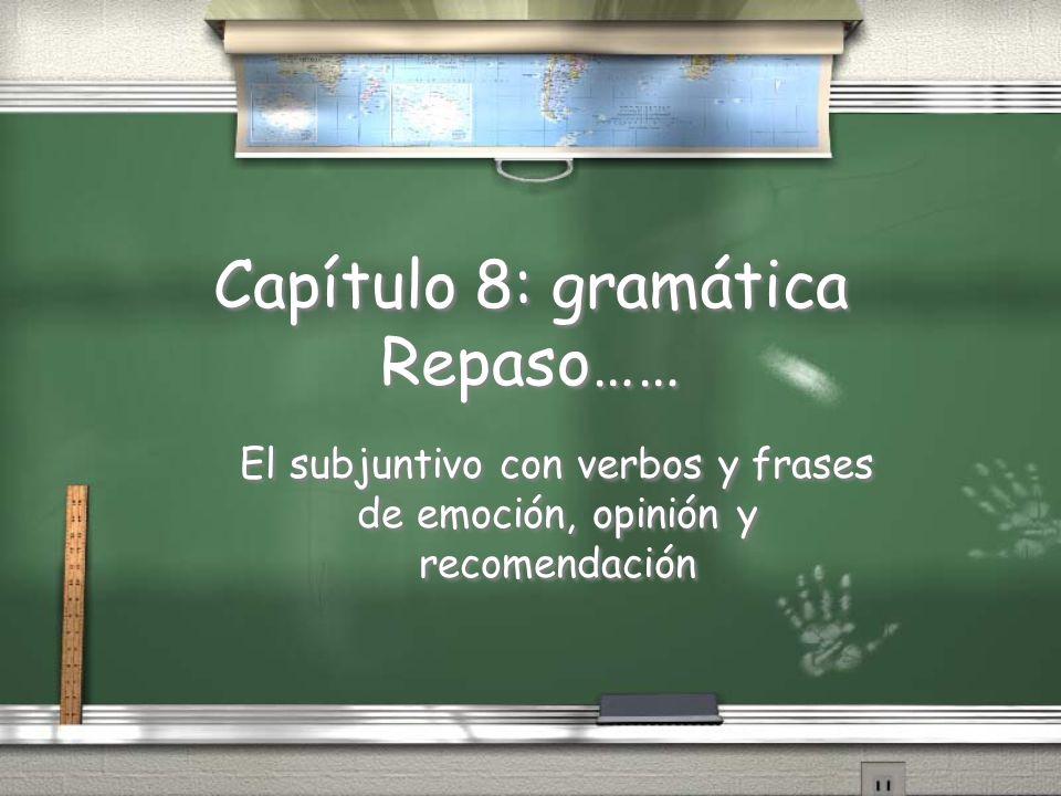 Capítulo 8: gramática Repaso……