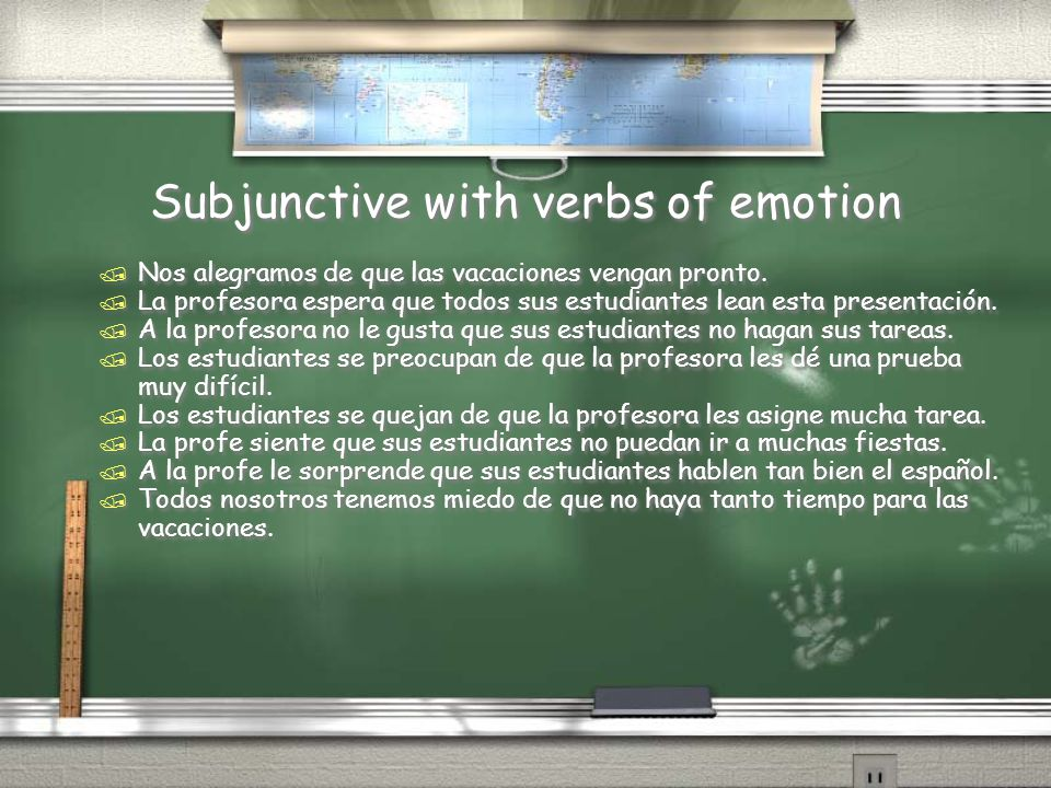 Subjunctive with verbs of emotion