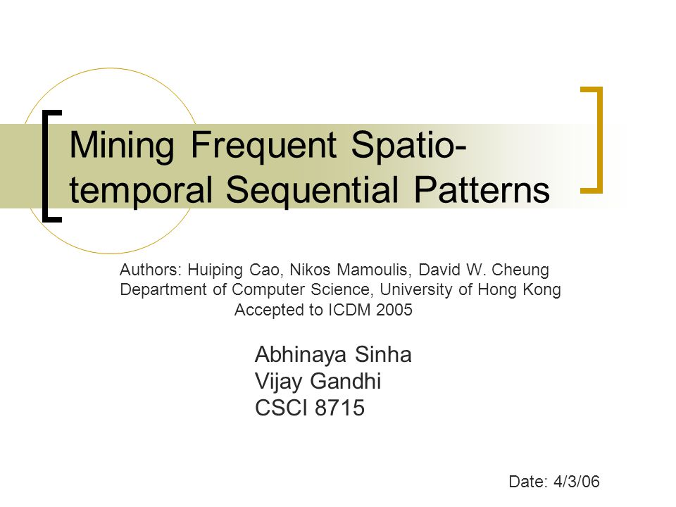Mining Frequent Spatio-temporal Sequential Patterns