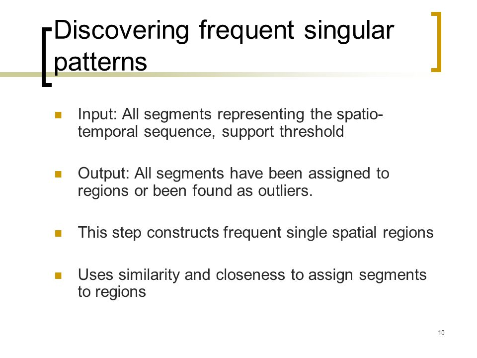 Discovering frequent singular patterns