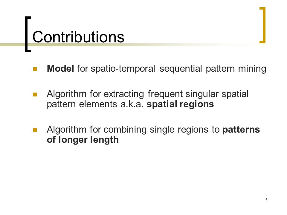 Contributions Model for spatio-temporal sequential pattern mining