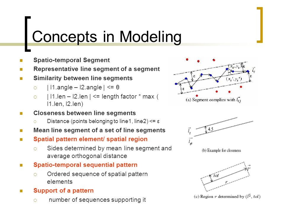 Concepts in Modeling Spatio-temporal Segment
