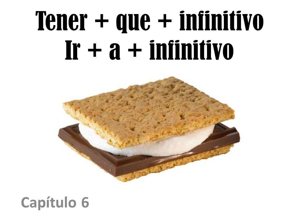 Tener + que + infinitivo Ir + a + infinitivo