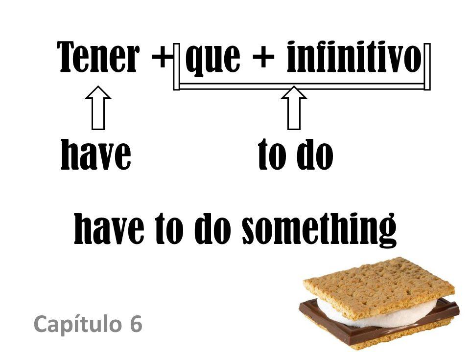 Tener + que + infinitivo