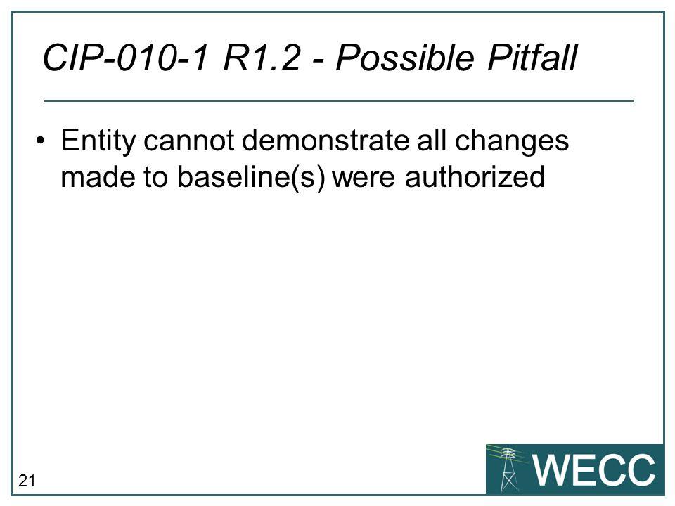 CIP-010-1 R1.2 - Possible Pitfall