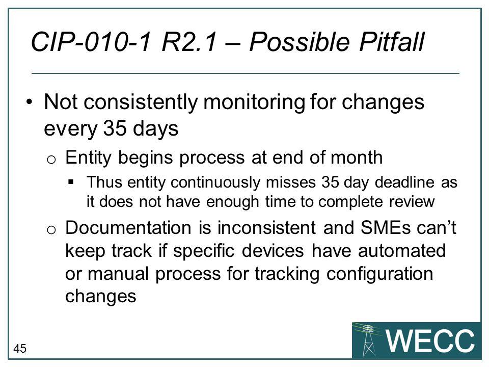 CIP-010-1 R2.1 – Possible Pitfall