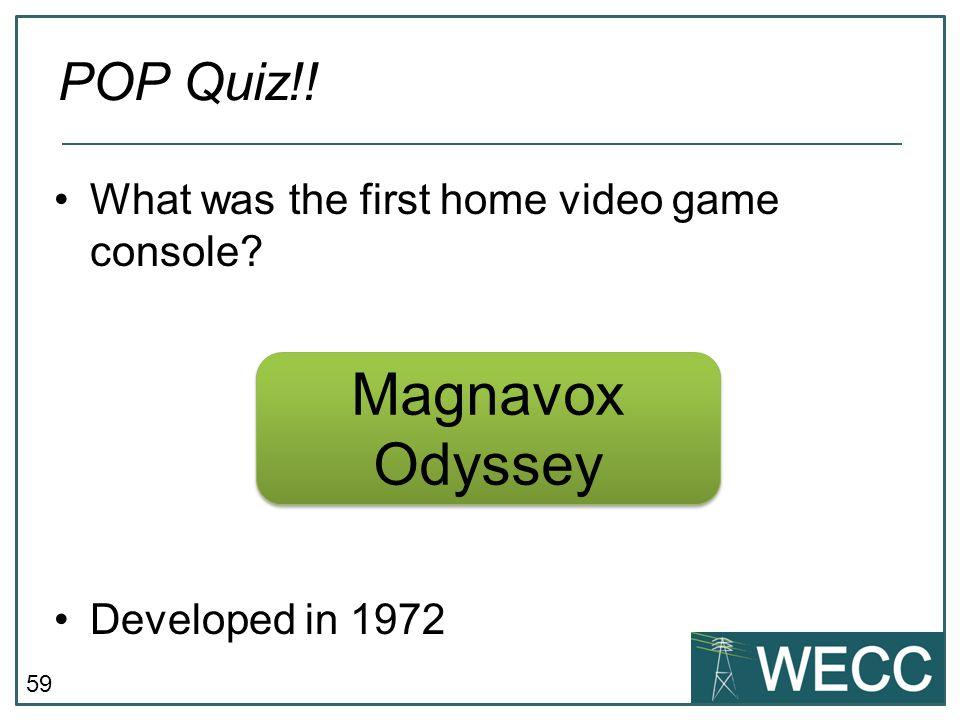 Magnavox Odyssey POP Quiz!!