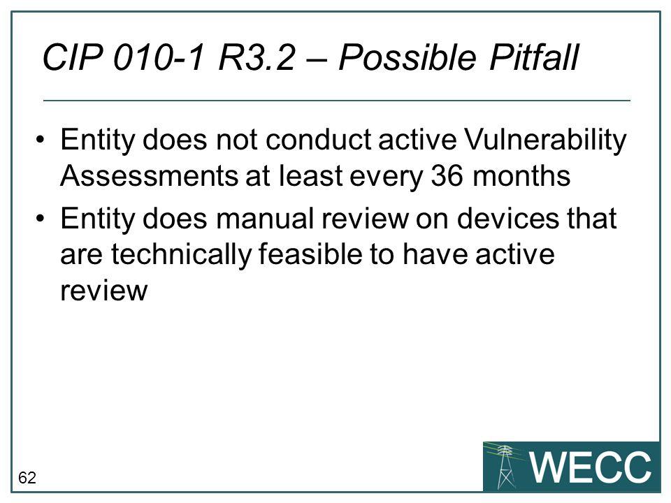 CIP 010-1 R3.2 – Possible Pitfall