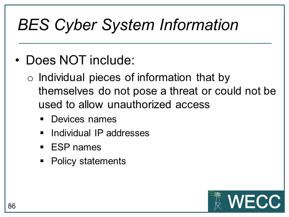 BES Cyber System Information