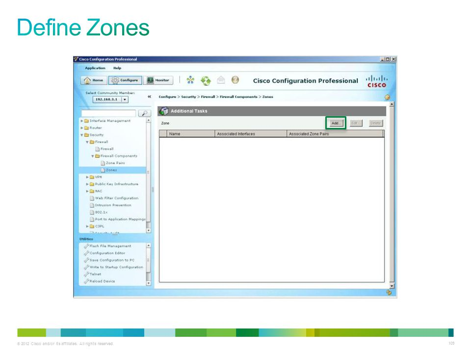 Define Zones