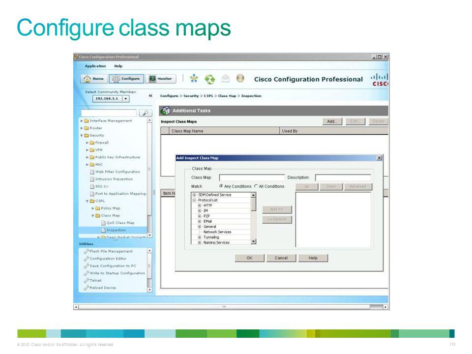 Configure class maps