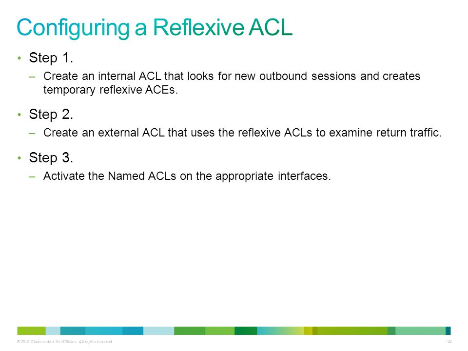 Configuring a Reflexive ACL