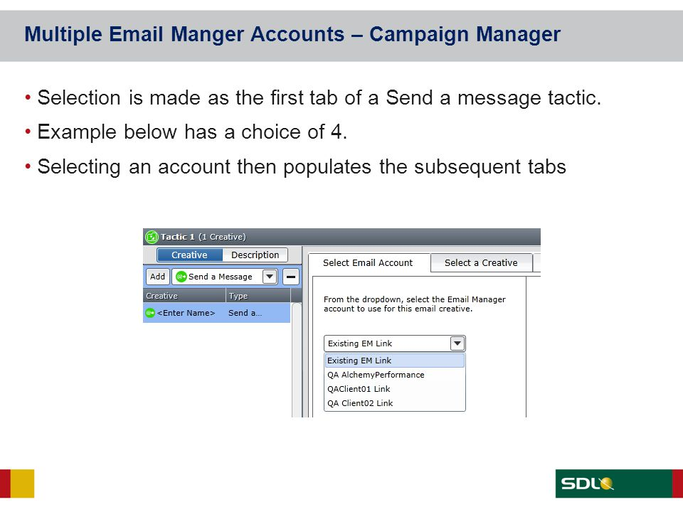 Multiple Email Manger Accounts – Campaign Manager
