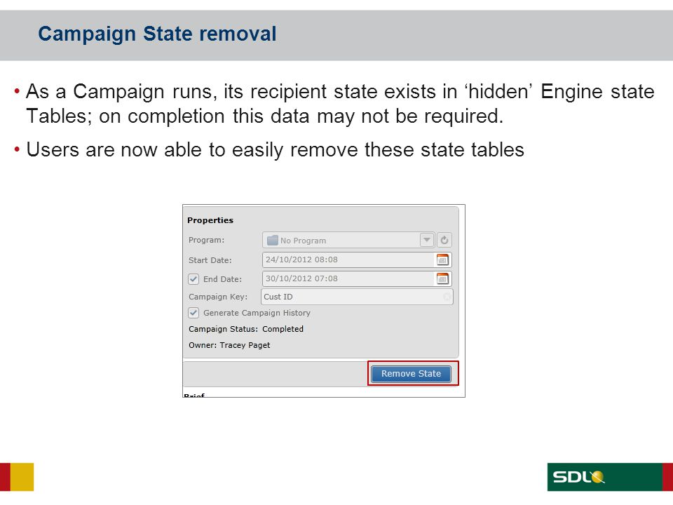 Campaign State removal