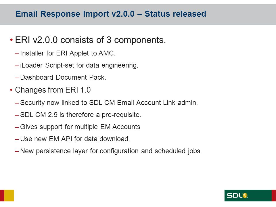 Email Response Import v2.0.0 – Status released