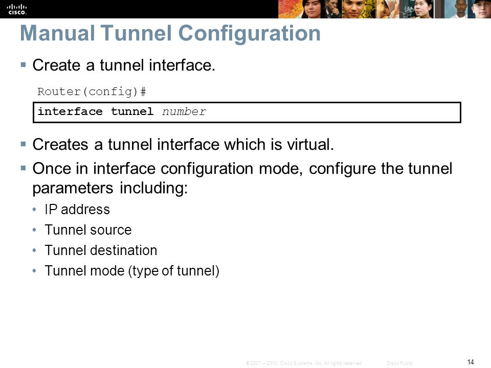Manual Tunnel Configuration