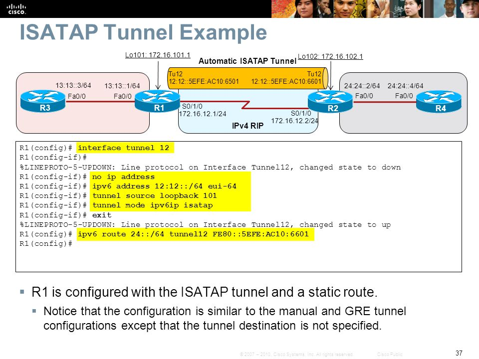 Automatic ISATAP Tunnel