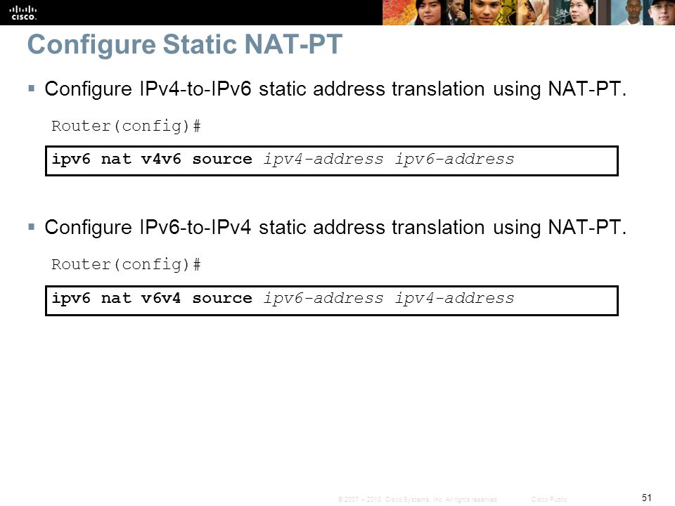 Configure Static NAT-PT
