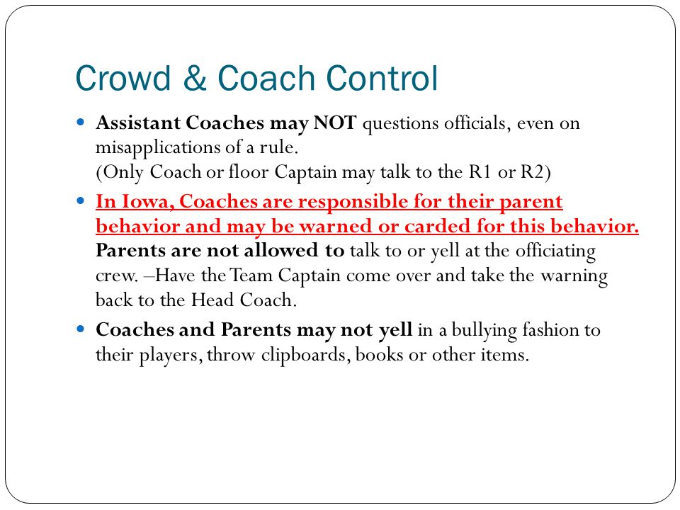 Crowd & Coach Control