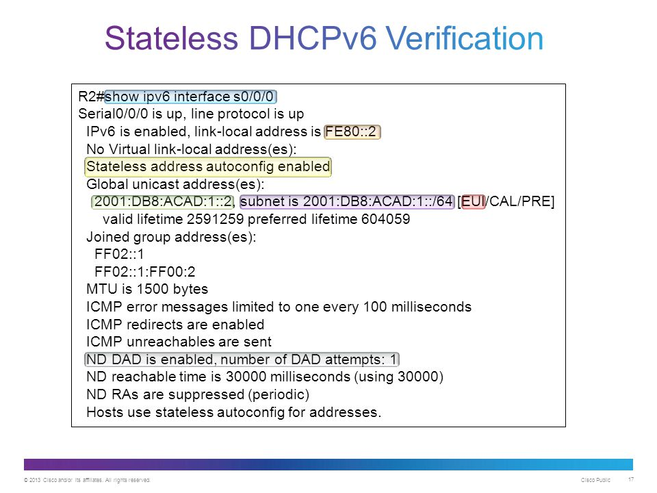 Stateless DHCPv6 Verification