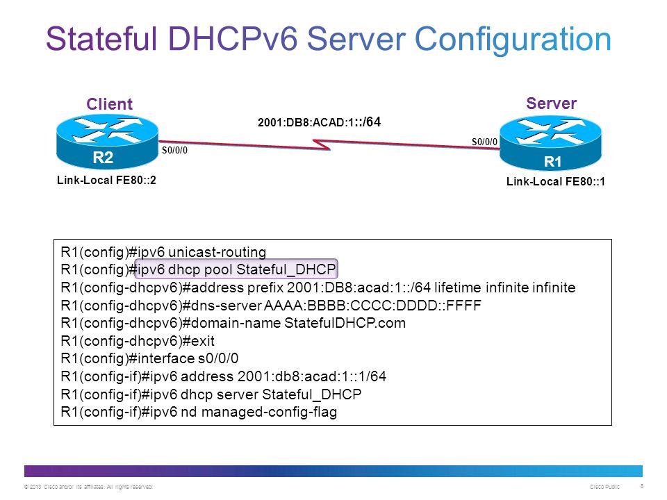 Stateful DHCPv6 Server Configuration