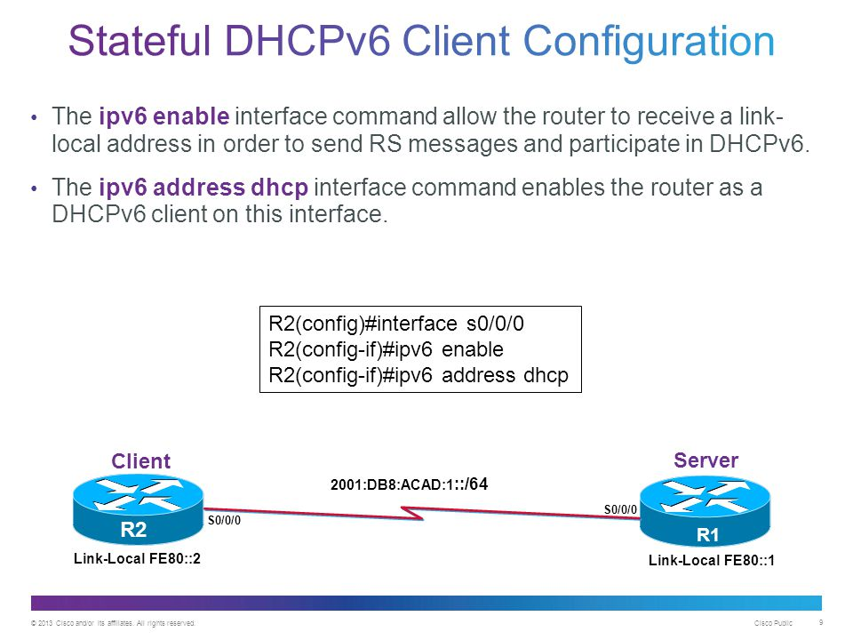 Stateful DHCPv6 Client Configuration