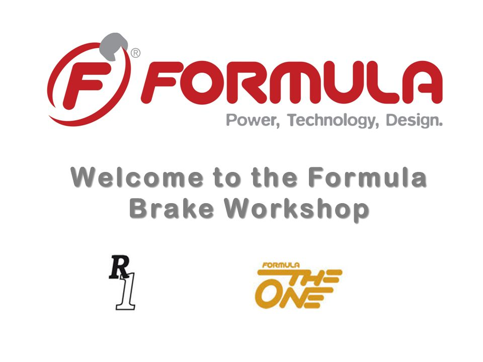 Welcome to the Formula Brake Workshop