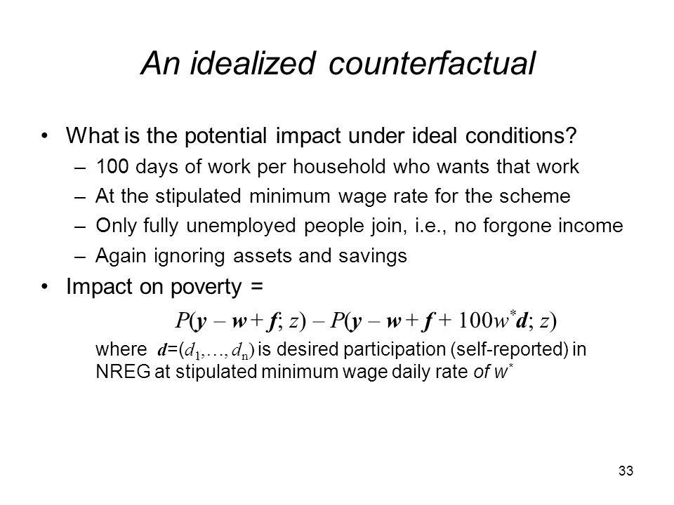 An idealized counterfactual