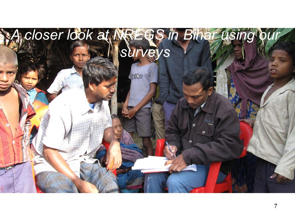 A closer look at NREGS in Bihar using our surveys