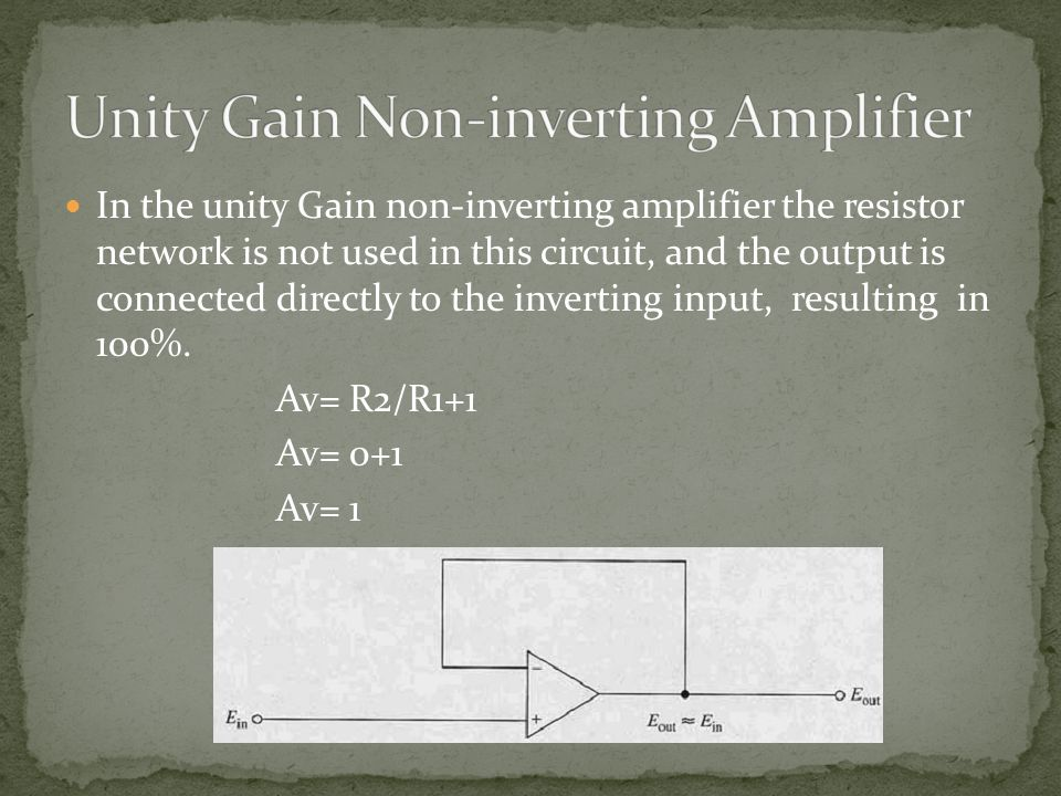 Unity Gain Non-inverting Amplifier