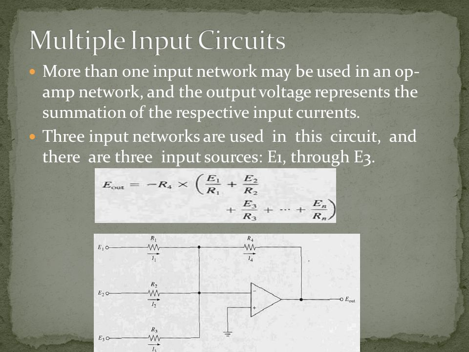 Multiple Input Circuits