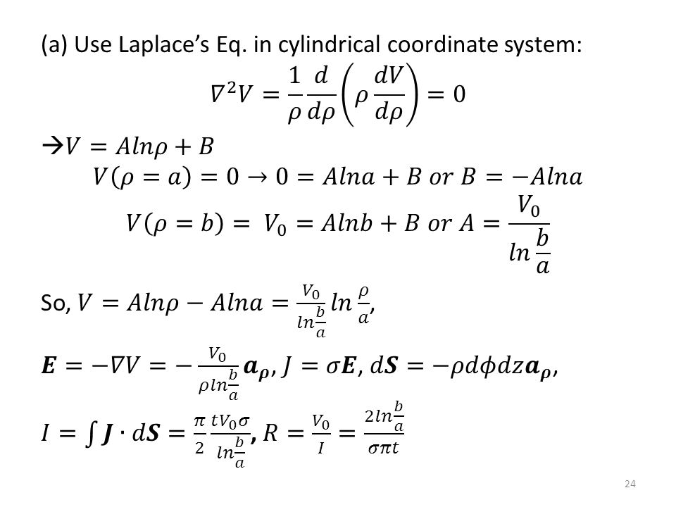 (a) Use Laplace's Eq.