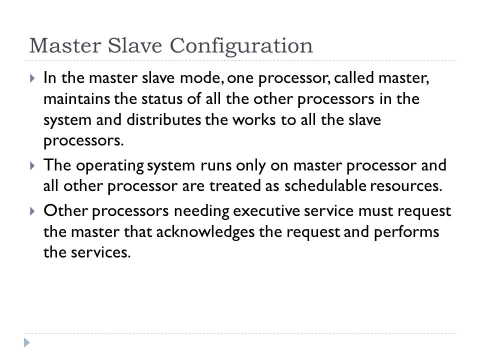 Master Slave Configuration