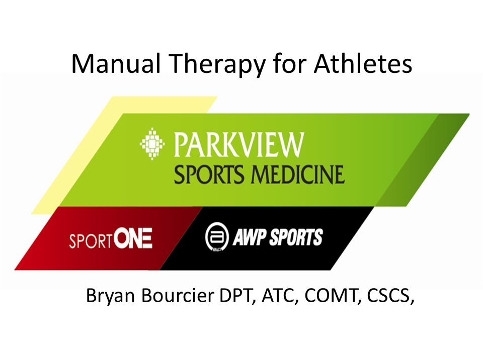 Manual Therapy for Athletes