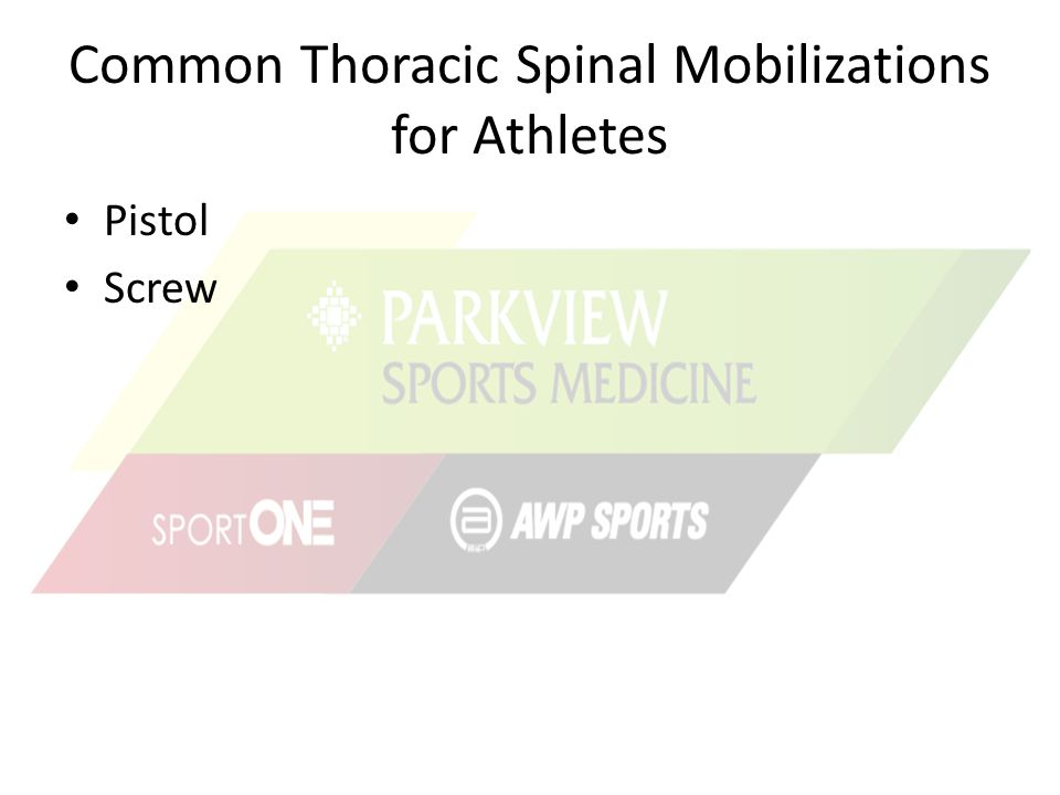 Common Thoracic Spinal Mobilizations for Athletes